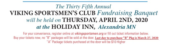 viking sportsmen banquet flyer